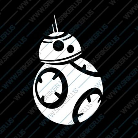 Фамилен стикер за кола Star Wars робот BB 8