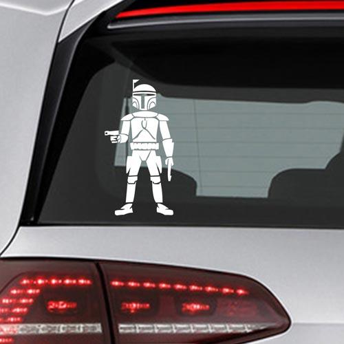 Фамилен стикер за кола Star Wars Jango Fett