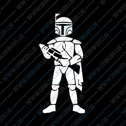 Фамилен стикер за кола Star Wars commander Cody