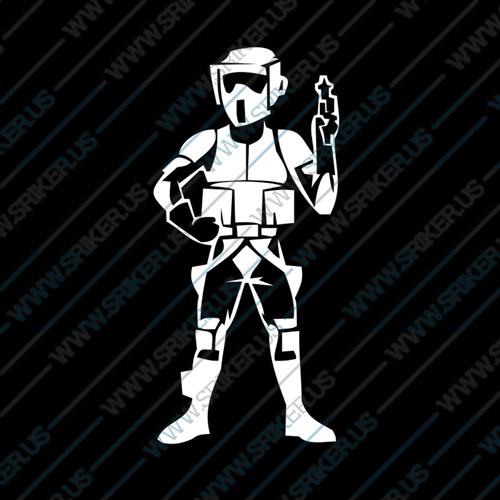 Фамилен стикер за кола Star Wars trooper войник