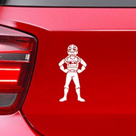 Фамилен стикер за кола Star Wars Pilot