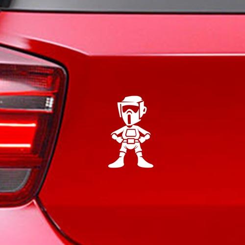 Фамилен стикер за кола Star Wars trooper без оръжие