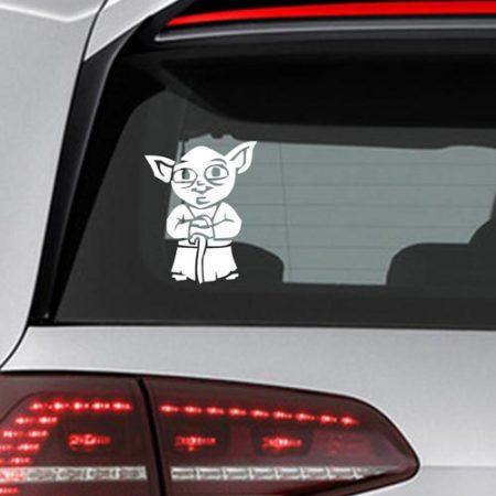 Фамилен стикер за кола Star Wars Yoda