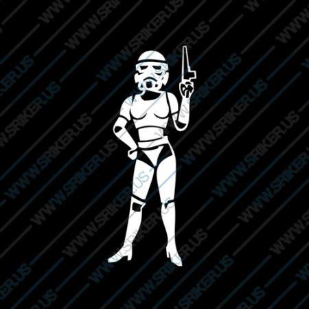 Фамилен стикер за кола Star Wars Storm Trooper