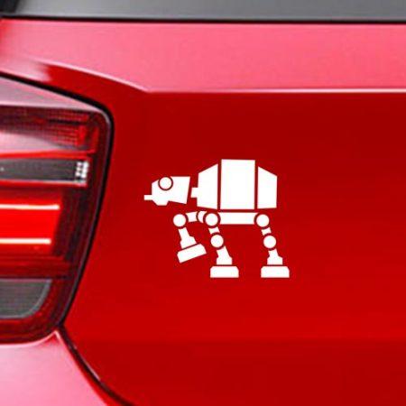 Фамилен стикер за кола Star Wars AT AT Walker