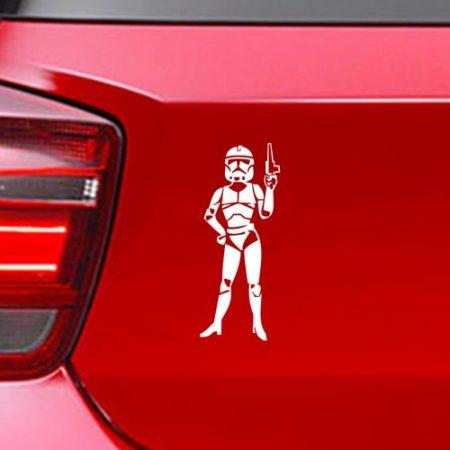 Фамилен стикер за кола Star Wars Clone