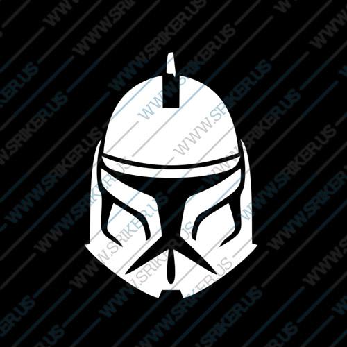 Фамилен стикер за кола Star Wars Clone Head