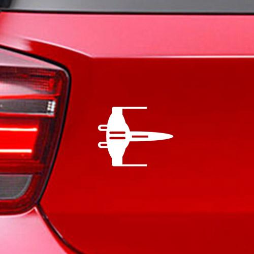 Фамилен стикер за кола Star Wars Starfighter