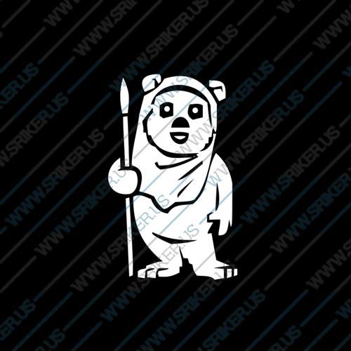 Фамилен стикер за кола Star Wars Ewok