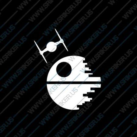 Фамилен стикер за кола Star Wars Death Star