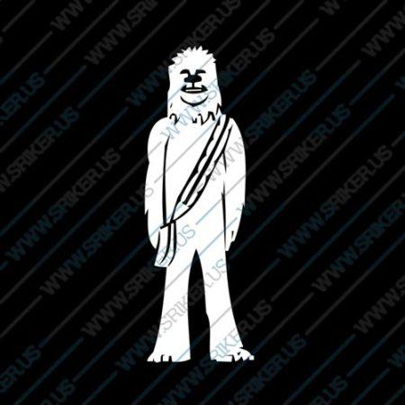 Фамилен стикер за кола Star Wars Chewbacca