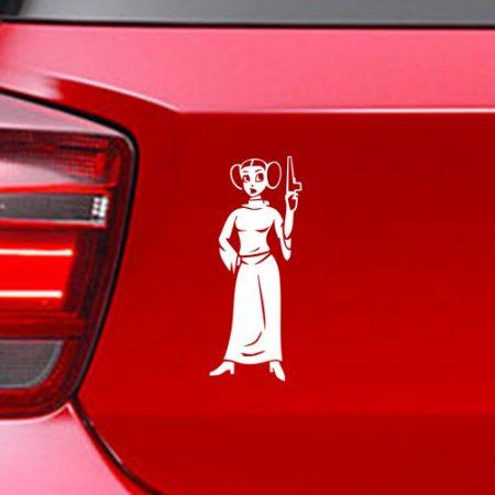 Фамилен стикер за кола Принцеса Лея