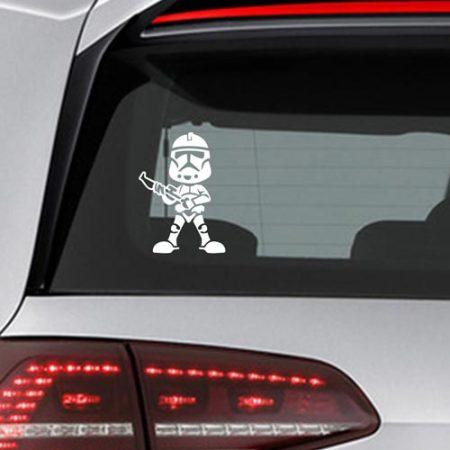 Фамилен стикер за кола Star Wars commander Cody малък