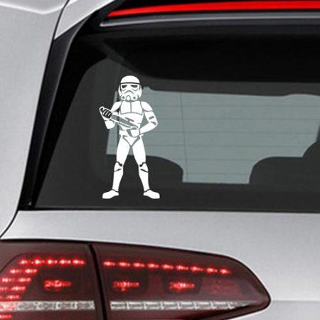 Фамилен стикер за кола Star Wars Stormtrooper