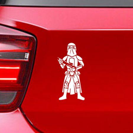 Фамилен стикер за кола Star Wars Snowtrooper