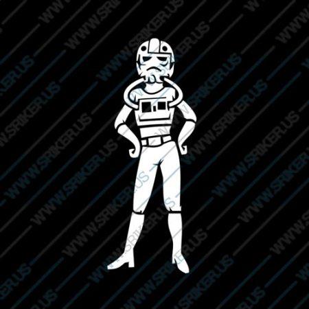 Фамилен стикер за кола Star Wars Tie Pilot