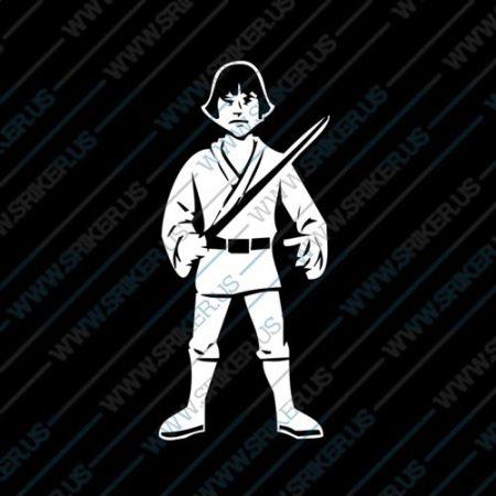 Фамилен стикер за кола Star Wars Luke Skywalker