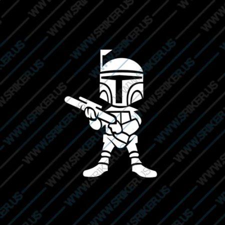 Фамилен стикер за кола Star Wars Captain Rex