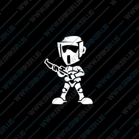 Фамилен стикер за кола Star Wars trooper малък войн