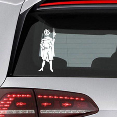 Фамилен стикер за кола Star Wars Padme Голям