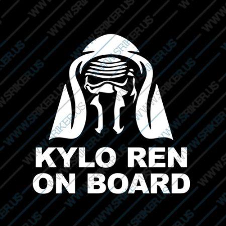 Фамилен стикер за кола Star Wars Kylo Ren on Board